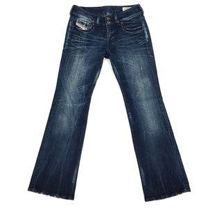 Diesel Rohnar Distressed Denim Bootcut Jean